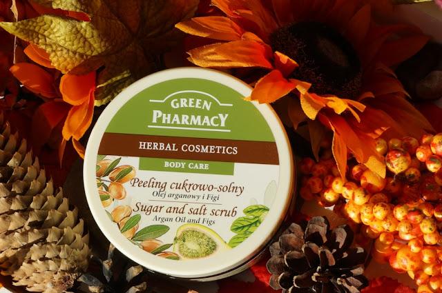 Peeling do ciała cukrowo - solny o zapachu olejku arganowego i figi Green Pharmacy - złuszczanie, ujędrnianie i otulanie zapachem