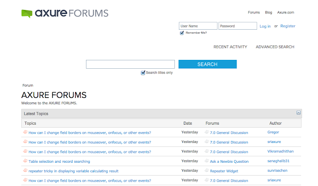 Axure forum, axure help
