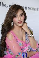 Angela Krislinzki Rogue Movie Fame Telugu Actress in Saree Backless Choli 007.JPG