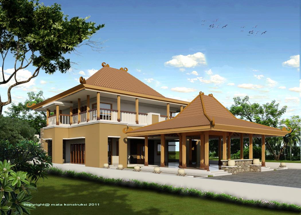 105 Denah Rumah Joglo Modern Minimalis  Gambar Desain