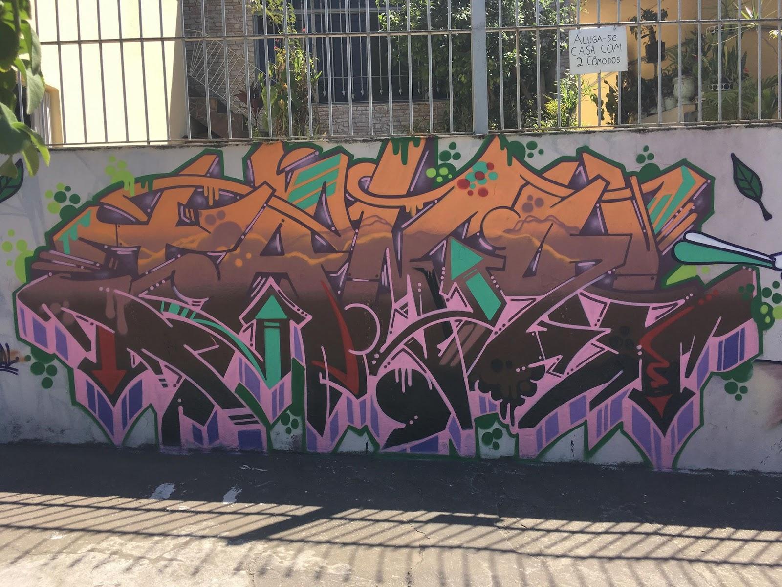 Graffiti Art na Cidade D'Abril, Jaraguá. Foto: acervo Jamal