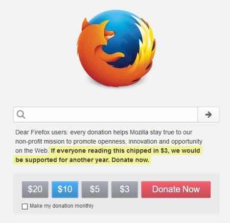 Cara Donasi di Web Browser Mozilla Firefox