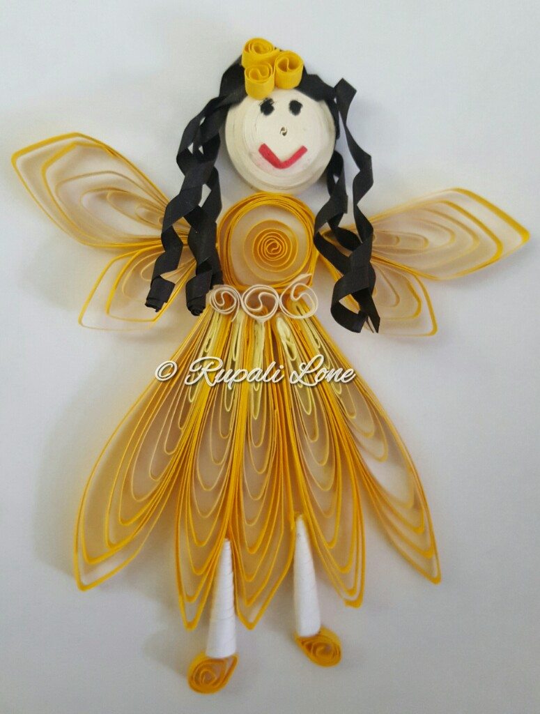 Trupti 39 s craft online paper quilling class student work for Craft work for class 3