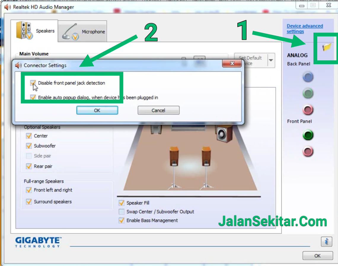 Cara Mengatasi Sound Tidak Terdeteksi di Windows 7, 8, 10 Audio Speaker or Headphone Unplugged