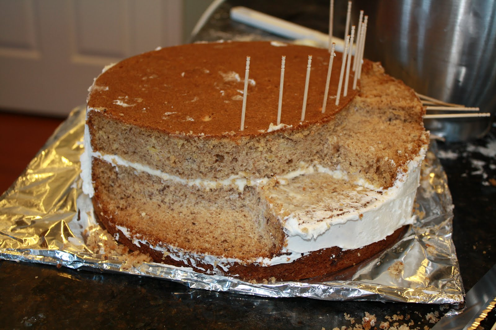 Two Layer Stair Cake
