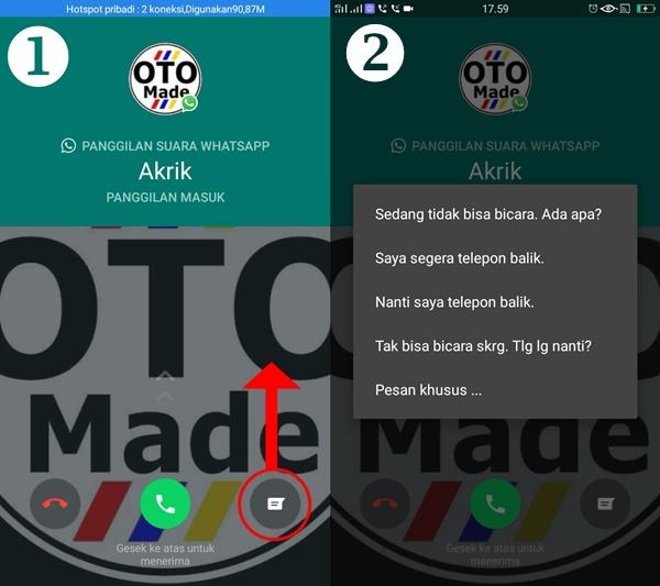 Cara Cepat Menjawab Panggilan di WhatsApp dengan Pesan