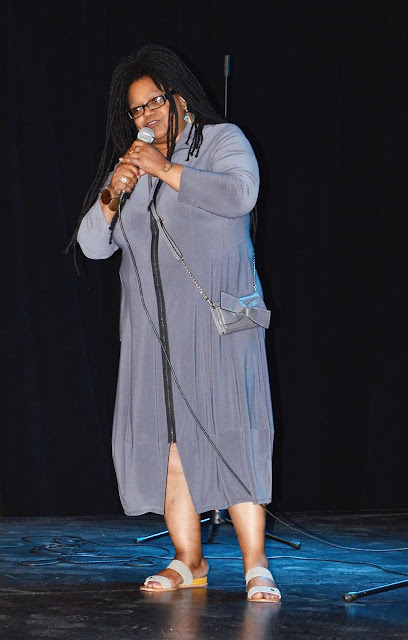 Vanessa Johnson aaduna gala at cayuga museum carriage house theater