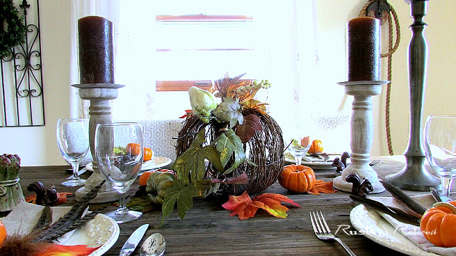 Rustic table setting for the home