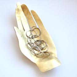 Palm Hand Jewelry Dish