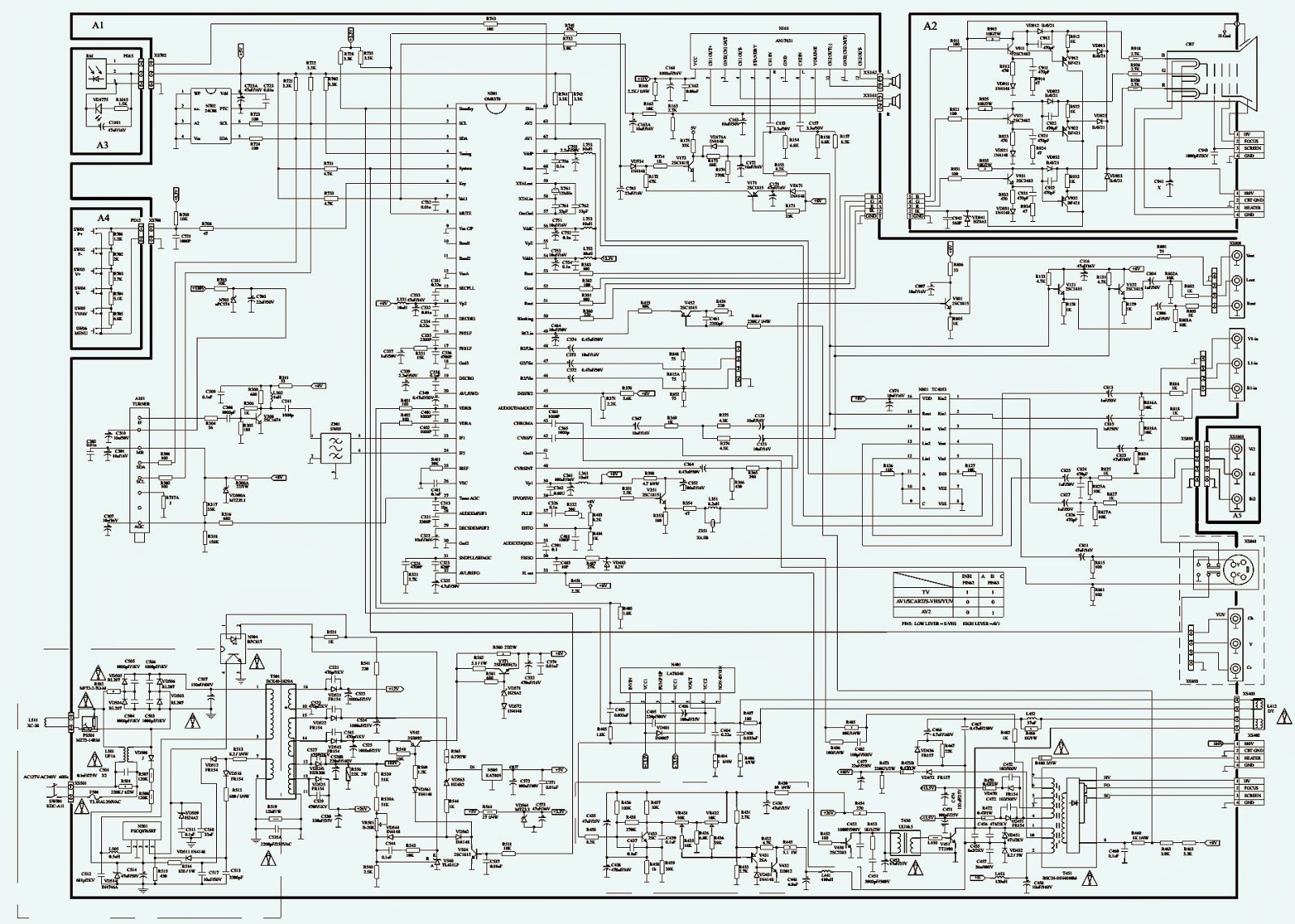 Forum Diagram: PHILCO PHILIPS PH14B CTV CIRCUIT DIAGRAM