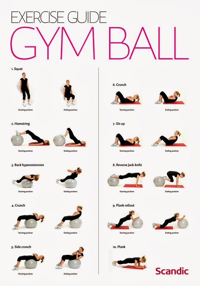 Exercise Guide Gym Ball Exercises For Women Useful