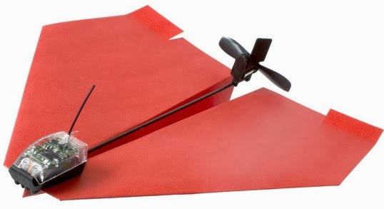 smartphone app controlled flying paper plane design