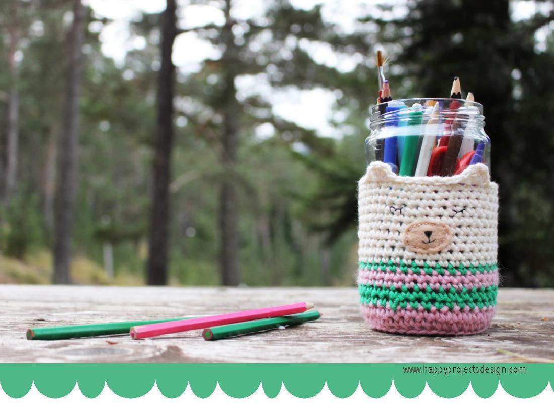 DIY Lapicero Osito de ganchilllo. crochet