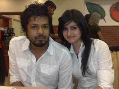 Anika Kabir Shokh with her boyfriend's photos