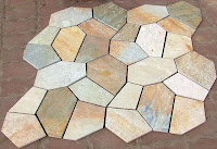 Birleştirilmiş kayrak taşlarından oluşan tabaka