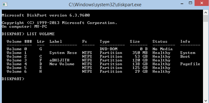 Capture - Hide Any Drive Through Command Prompt