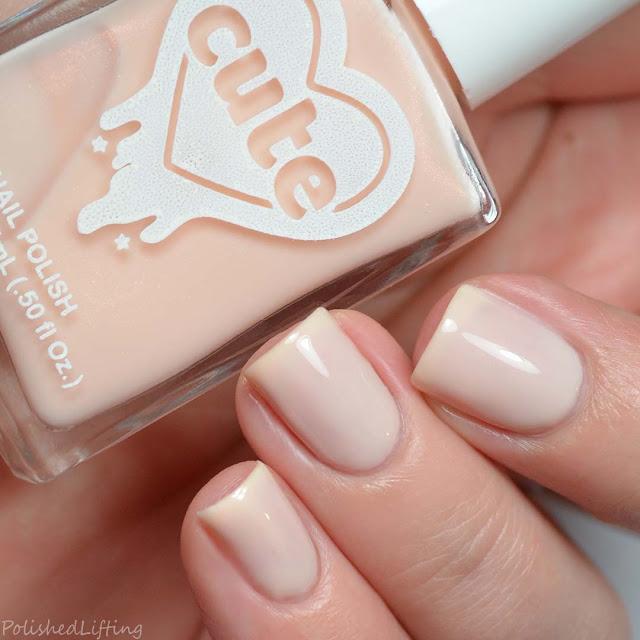 off white shimmer nail polish