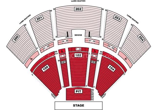 BB&T Pavilion (Formerly Susquehanna) Camden Tickets Schedule  - susquehanna bank center seating chart