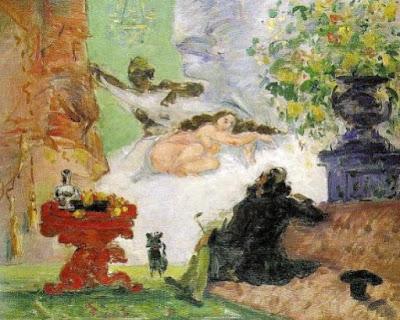 "Lukisan ""A Modern Olympia"" oleh Paul Cezanne"