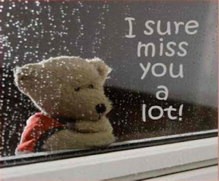 i sure miss you a lot with sad teddy bear pic