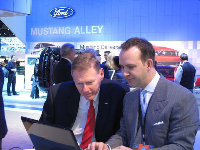 Alan Mulally and Scott Monty at NAIAS, 2011