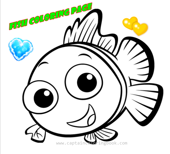 Fish Coloring Page Free Download Pdf
