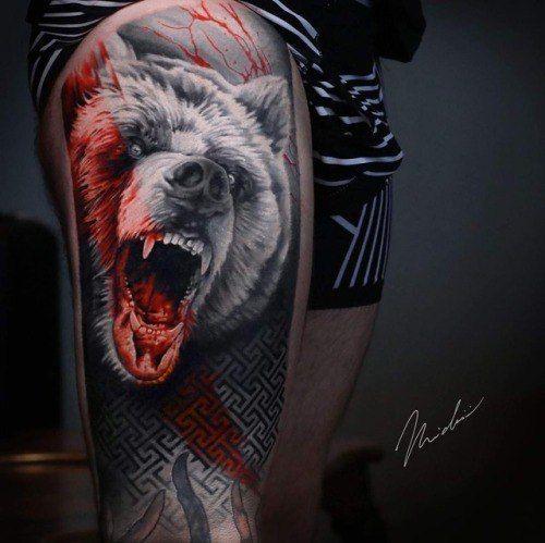 Tatuajes de oso en estilo moderno