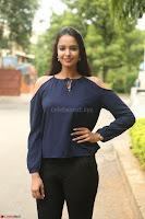 Poojita Super Cute Smile in Blue Top black Trousers at Darsakudu press meet ~ Celebrities Galleries 039.JPG