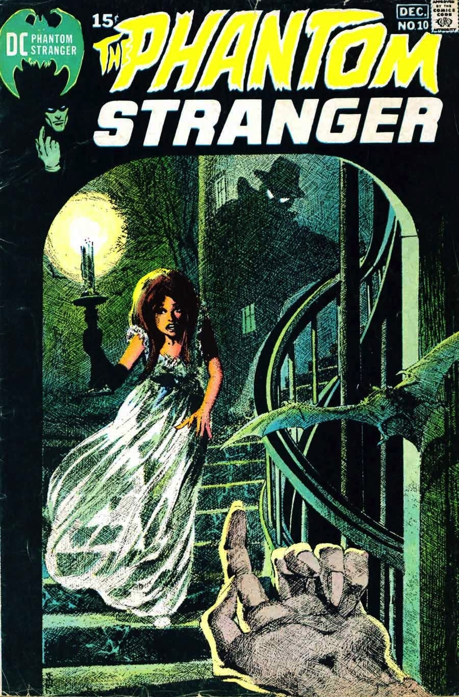 Phantom Stranger v2 #10 - 1970s dc horror comic book cover art by Neal Adams