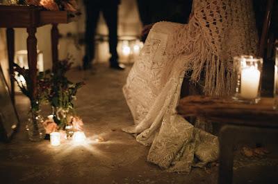 matrimonio inverno candele notte