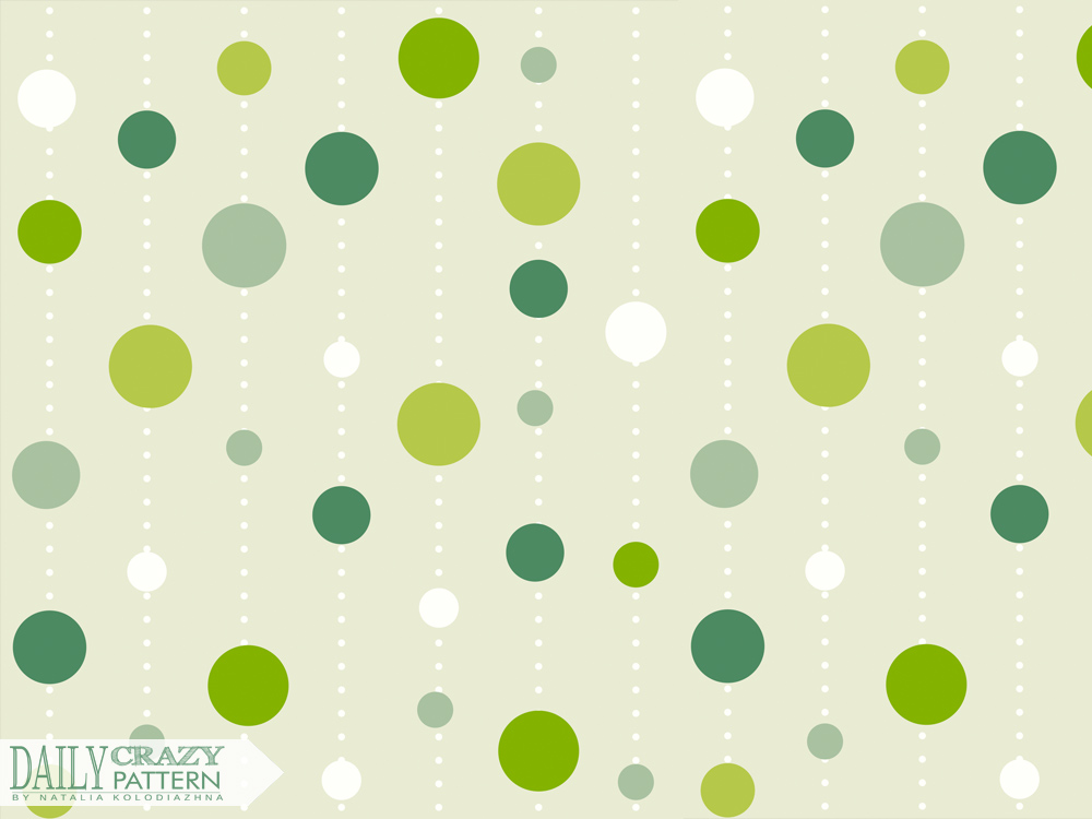 "Green cute pattern for ""Daily Crazy Pattern"" project 
