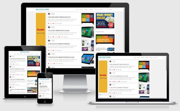 I blog clean responsive Blogger template