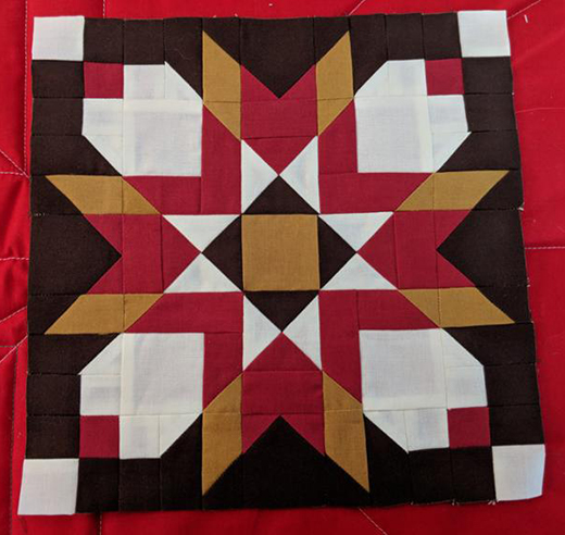 Badlands Star Block Free Pattern