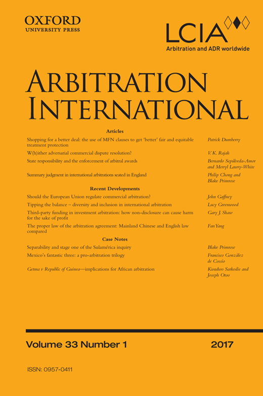 third-party funding in international arbitration an essay about new developments Mark kantor third-party funding in international arbitration: an essay about  new developments, icsid review - foreign investment law.