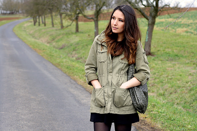 Outfit Khaki Parka Ankle Boots