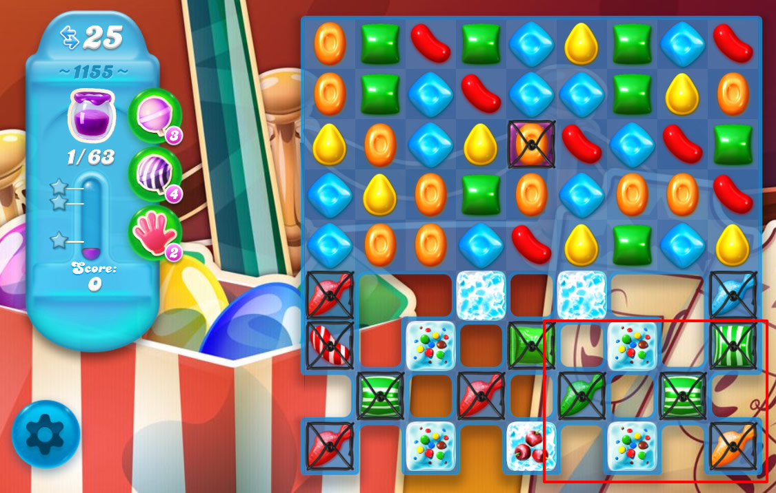 Candy Crush Soda Saga level 1155