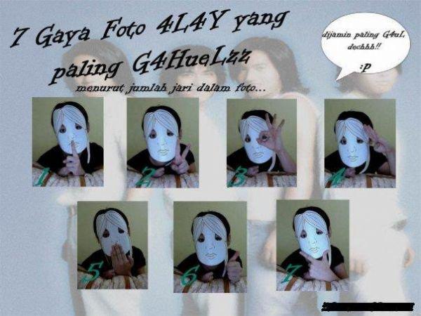 Gaya Foto Alay berdasarkan jumlah JARI ~ FARMASI 2 SEKOLAH ...