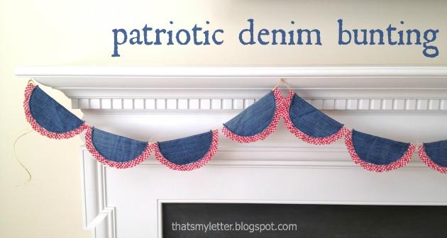 diy patriotic denim bunting