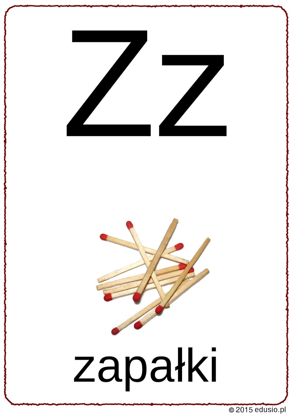 Edusio Druczki Do Nauczki Litera Z