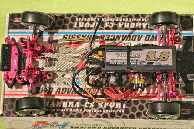 3Racing Sakura D4 RWD - new electronics layout