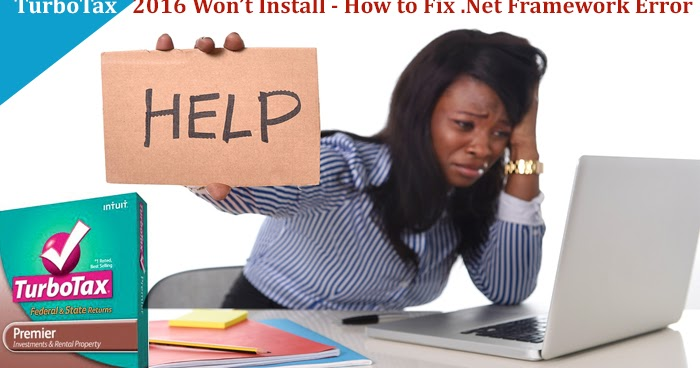 TurboTax 2016 Won't Install - How to Fix .Net Framework Error
