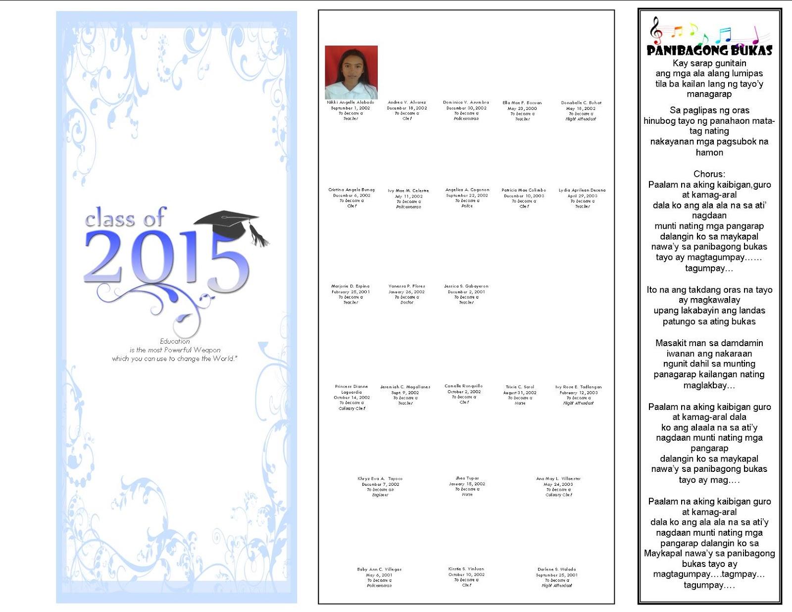 Sample Introduction Of Speaker For Graduation Program ...