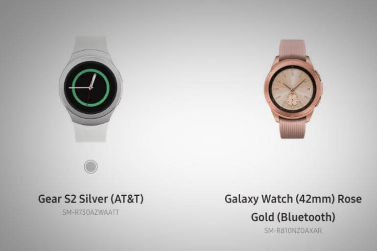 Samsung Galaxy Watch & Gear S2 Silever