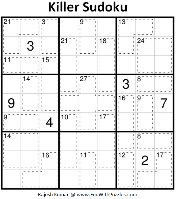 Killer Sudoku Puzzles (Fun With Sudoku #233, #234)-Fun With