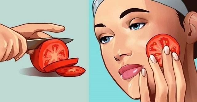 Βάλτε μια φέτα ντομάτας στο πρόσωπό σας