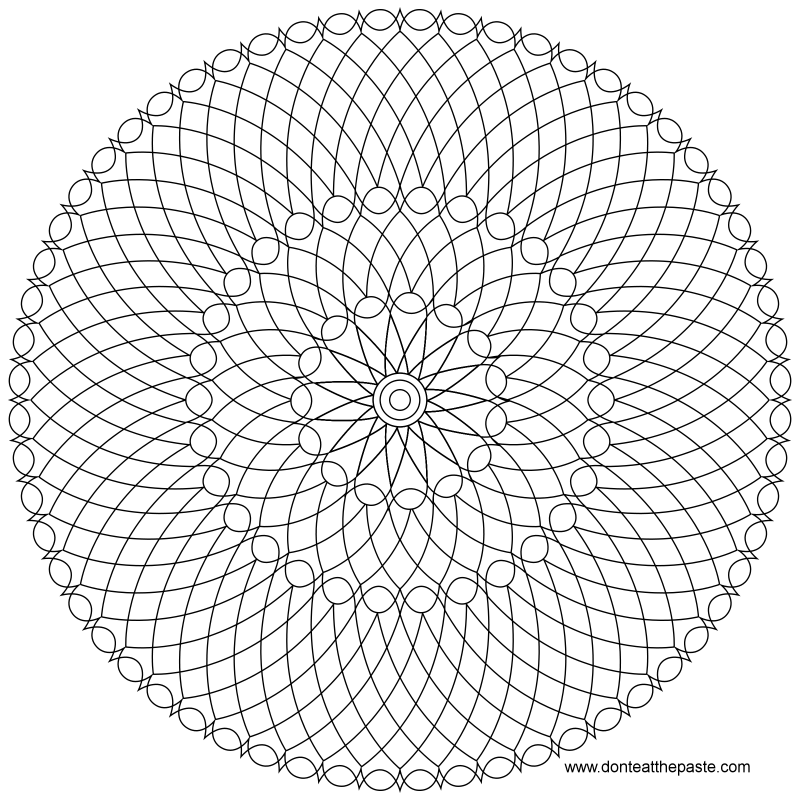 mandala to color in jpg or transparent png versions