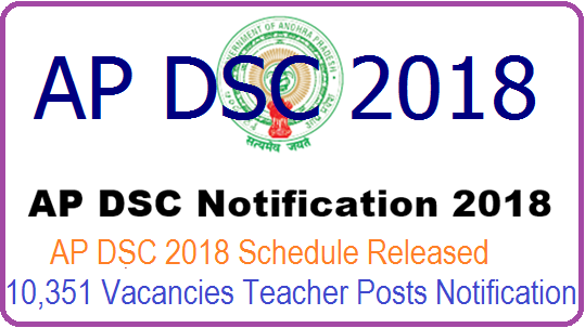 AP DSC District Vacancies 2018 - AP TRT (DSC) SGT, SA, LP, PET District wise Vacancies