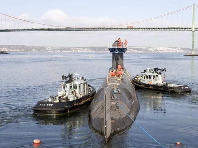 El HMCS Chicoutimi regresa a puerto por problema de baterías