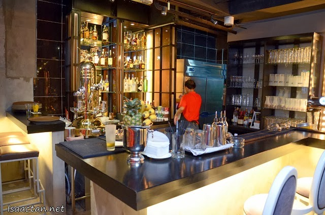 The bar, where award winning cocktails were whipped up by their mixologist Joshua Ivanovic