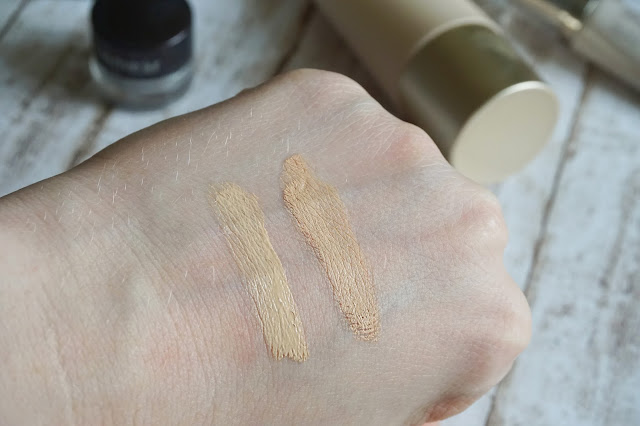 laura mercier - High Coverage Concealer For Under Eye in 0.5 Eve Lom - Radiance Perfected Tinted Moisturiser in Alabaster 1 Swatch
